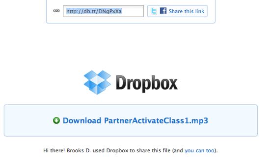 Dropbox Link Page
