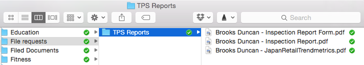 Dropbox File Request Downloaded Files