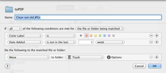 Hazel clean up old JPG files