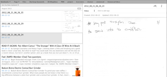 Evernote Scanned Pages