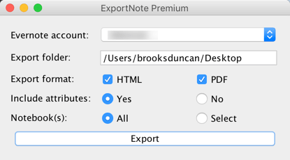 Exportnote Evernote Export