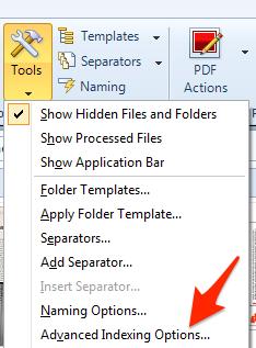 Tools Advanced Indexing