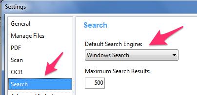 FileCenter Search Engine