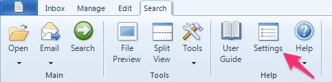 FileCenter Search Button