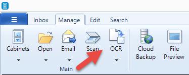 FileCenter OCR button