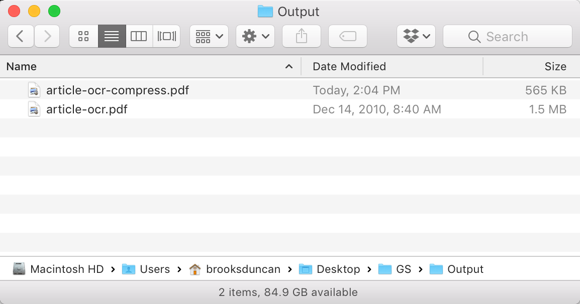Ghostscript files