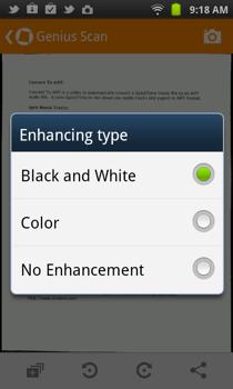 Genius Scan Android Enhancement