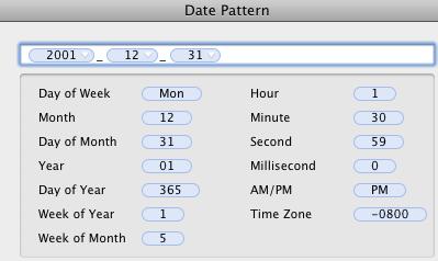 Hazel date pattern