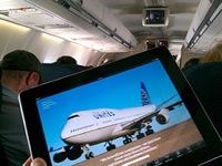 iPad On Airplane
