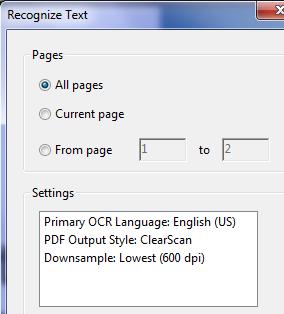 Adobe Acrobat ClearScan