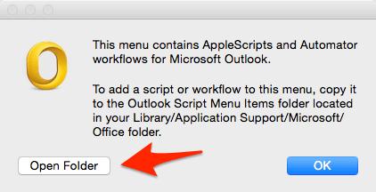 Outlook Mac Open Folder