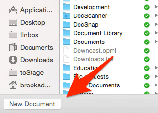 Outlook Mac New Document