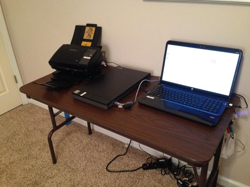 My photo scanning setup