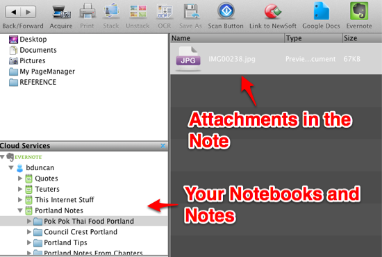 PageManager Evernote