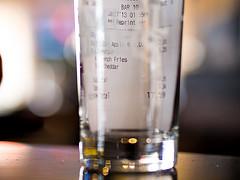 Receipt In Glass