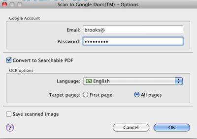 Scan To Google Docs