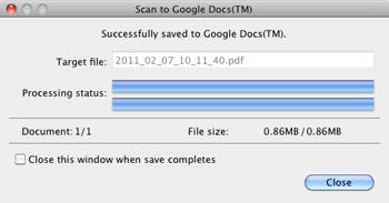 Google Scan Succesful