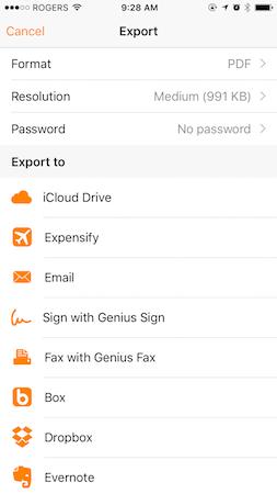 Scan To iCloud Drive - Genius Scan