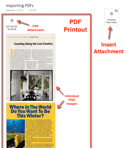 Scan To OneNote For Mac PDF Attachment Types