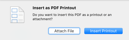 Scan To OneNote For Mac PDF Insert Popup