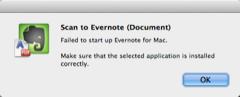 Failed to start up Evernote for Mac