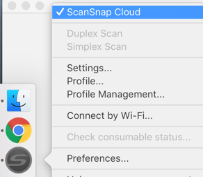 ScanSnap Cloud Setting