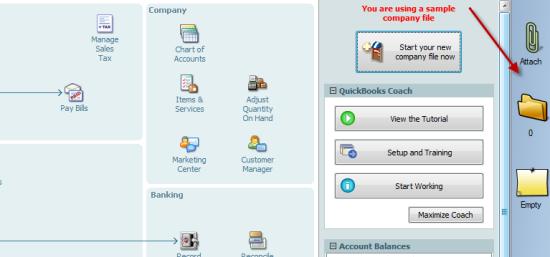 Quickbooks new toolbar