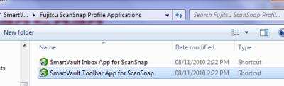ScanSnap Add SmartVault Application