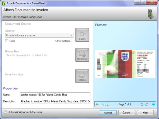 ScanSnap Accept SmartVault Scan