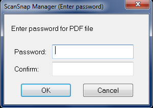 ScanSnap Manager Password Prompt