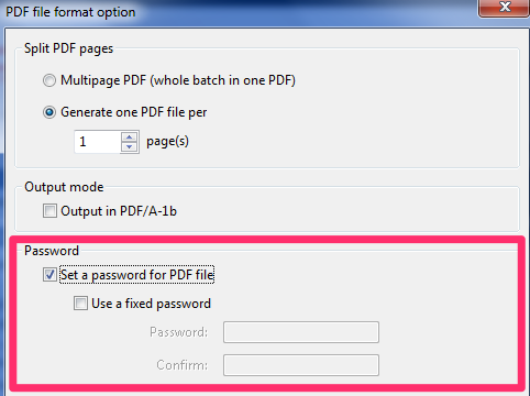 ScanSnap Manager Password