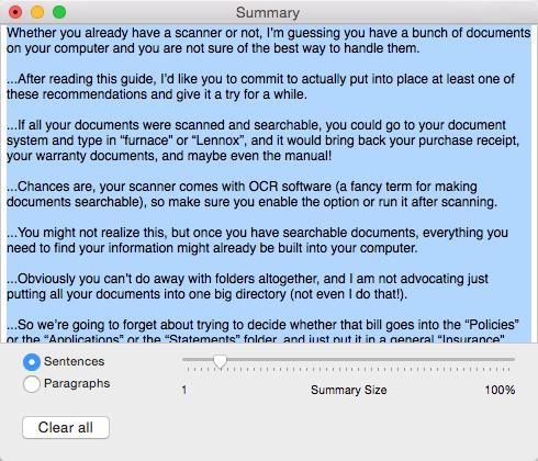 Default Summary