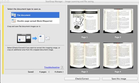 ScanSnap SV600 Mac Book