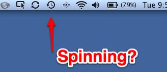 Time Machine Spinning?